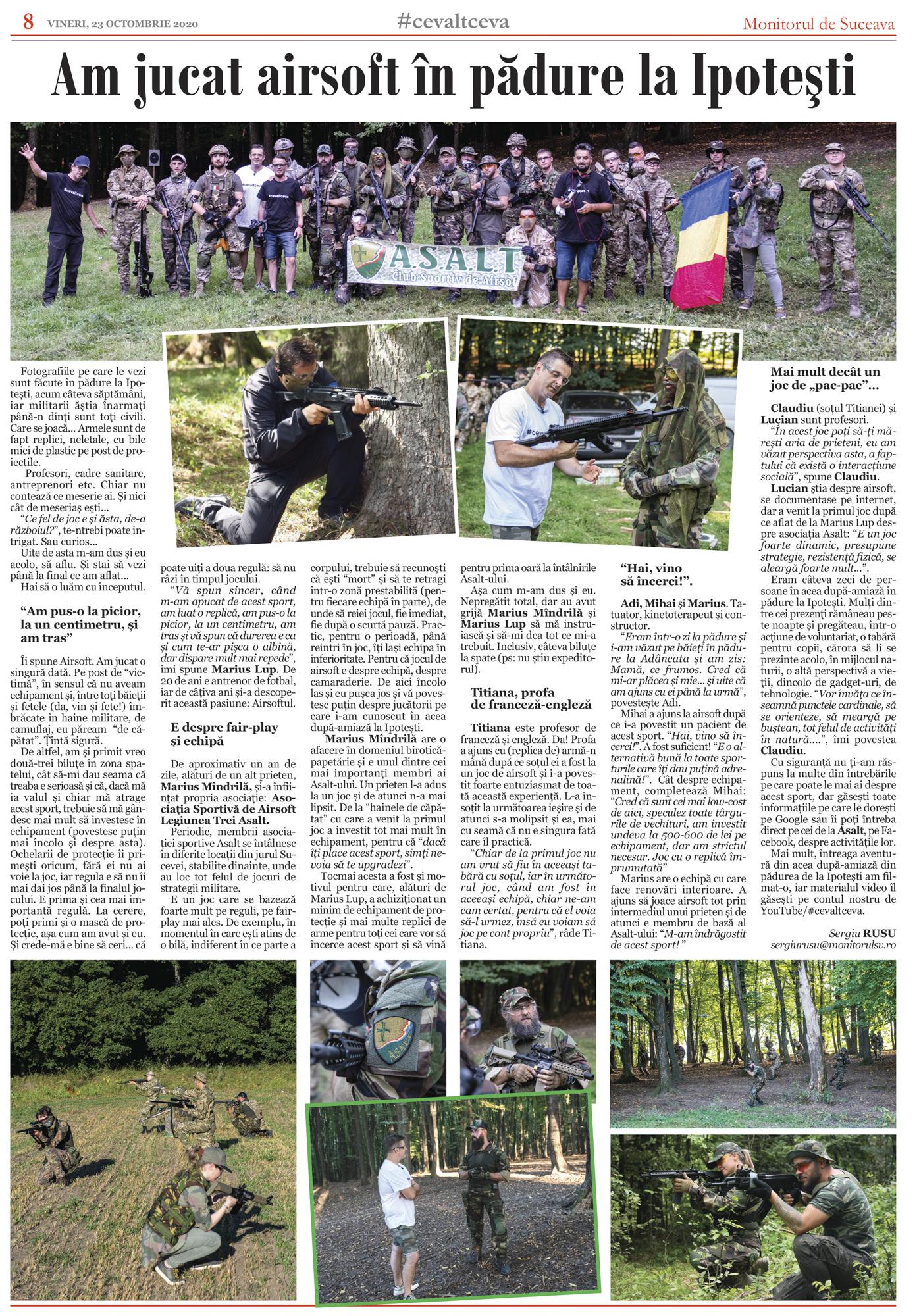 Am jucat airsoft în pădure (Suceava, Ipotești, 2020)