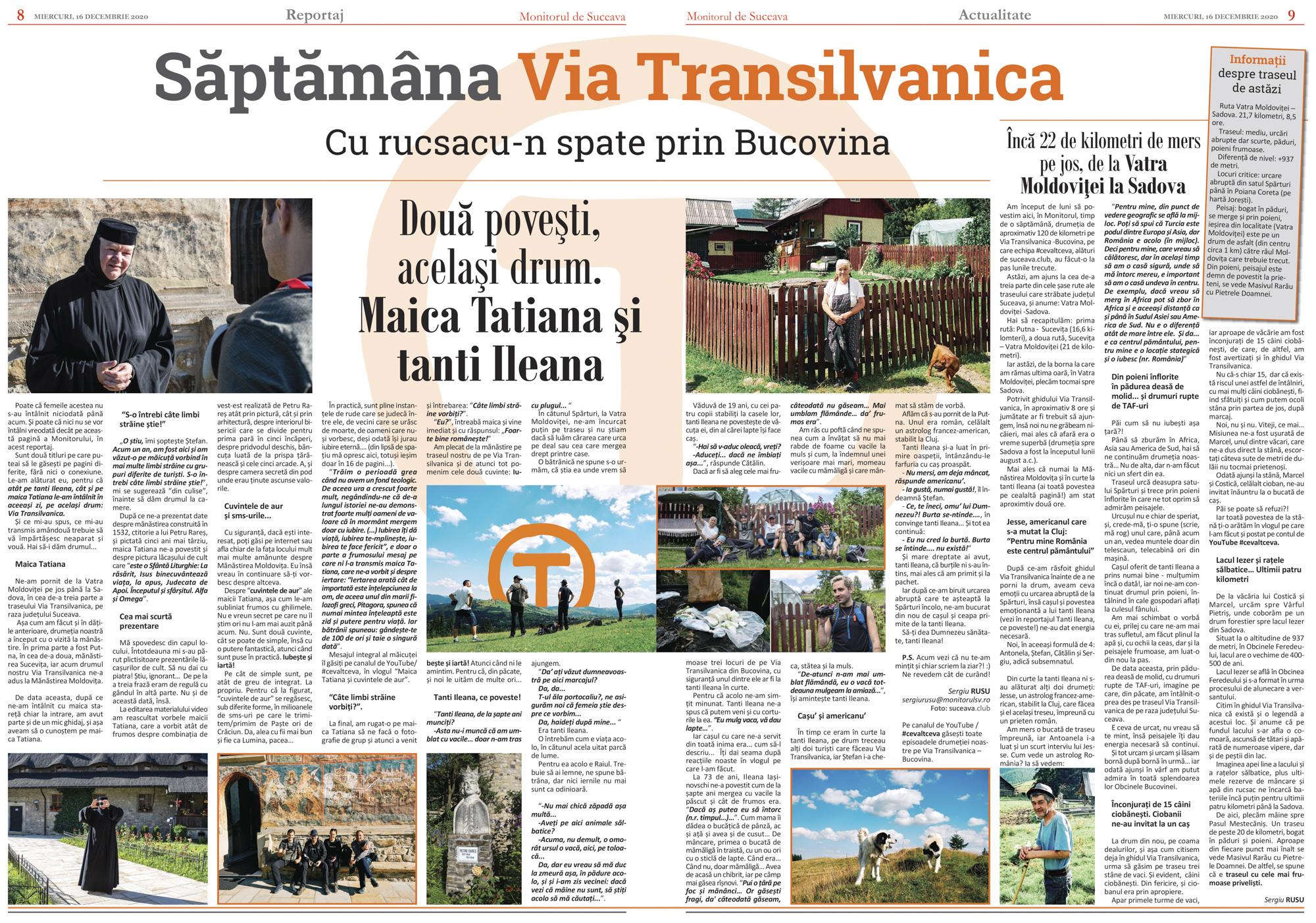 Via Transilvanica (III) De la Vatra Moldoviței la Sadova