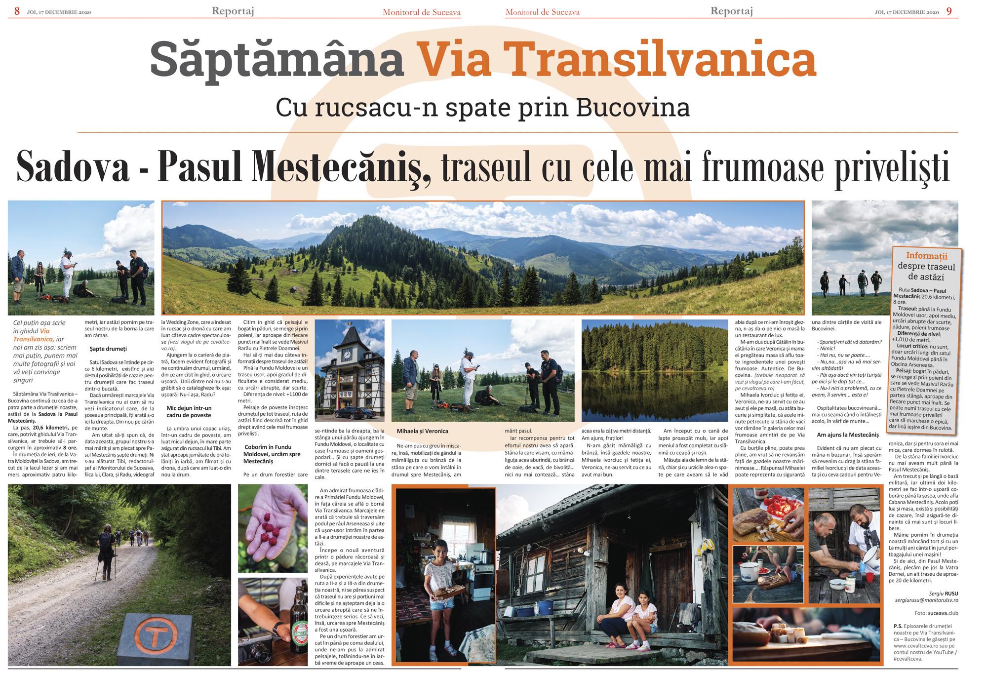 Via Transilvanica (IV) De la Sadova la Pasul Mestecăniș