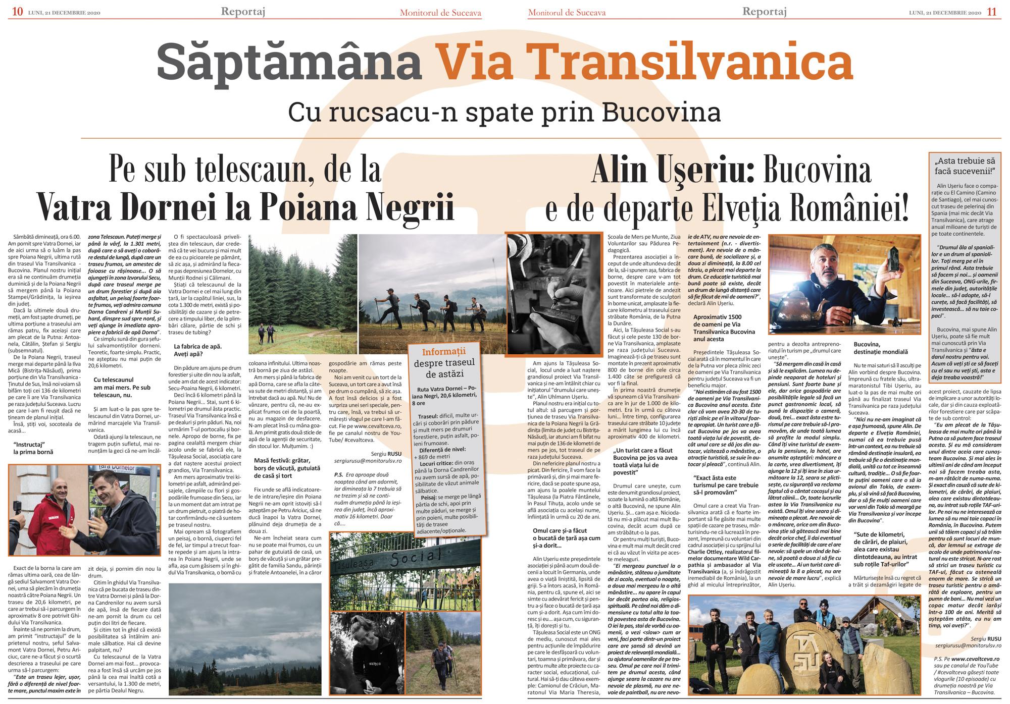 Via Transilvanica (VI) De la Vatra Dornei la Poiana Negrii
