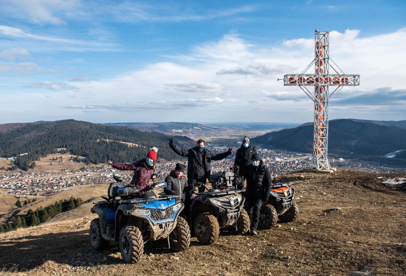 Cu ATV-urile, la Gura Humorului. Am ajuns pe Vârful Toaca (fotoreportaj)